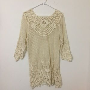 Toffee Apple White Lace Dress